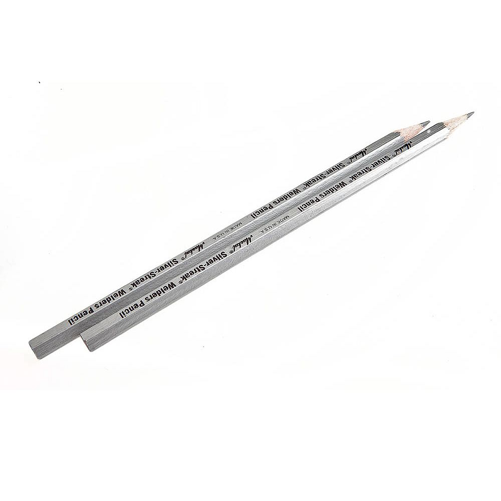 Forney Industries Silver Lead Pencil, (2-Pack)