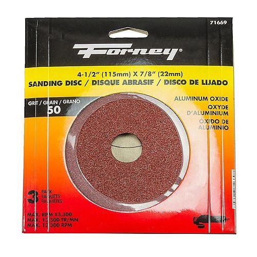 Resin Fibre Sanding Disc, 4-1/2 inch, Aluminum Oxide