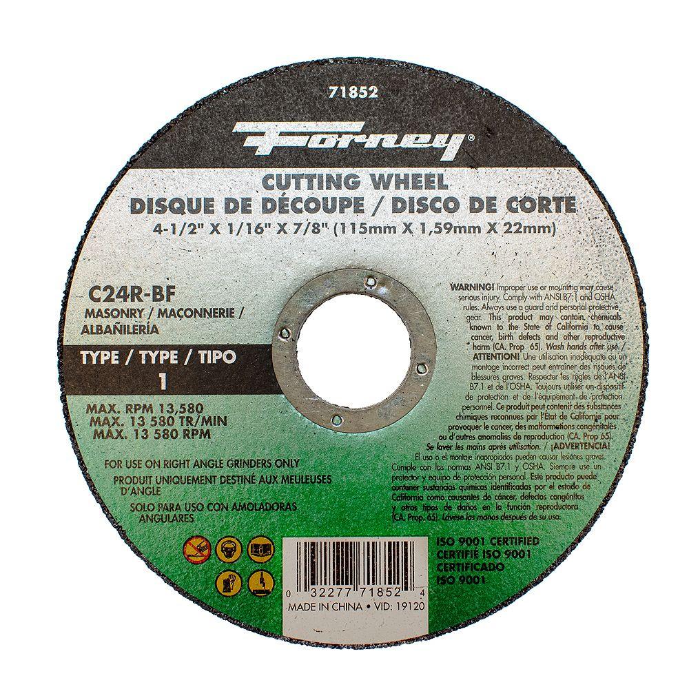 Forney Industries Disque De Tronçonnage