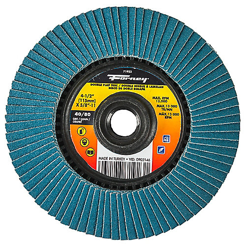 4-1/2 inch Double-Sided Flap Disc, 40/80 Grits