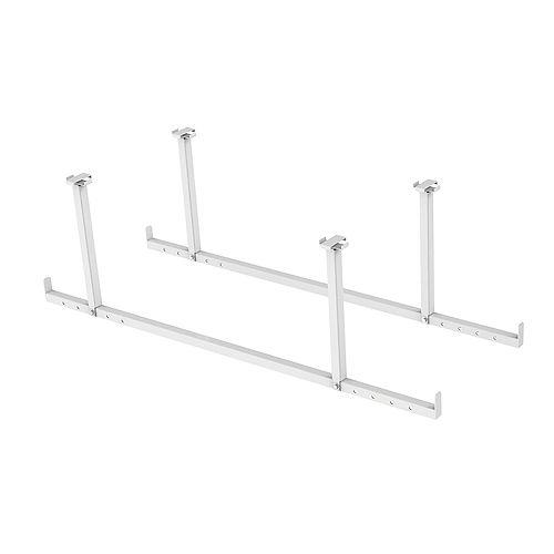 Ensemble d'accessoires VersaRac blanc 2 pièces (barres de suspension)