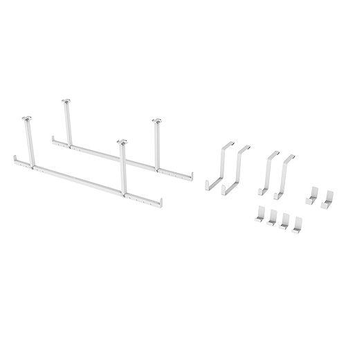 Ensemble d'accessoires 12 pièces VersaRac (barres de suspension, crochets en S, crochets en J)