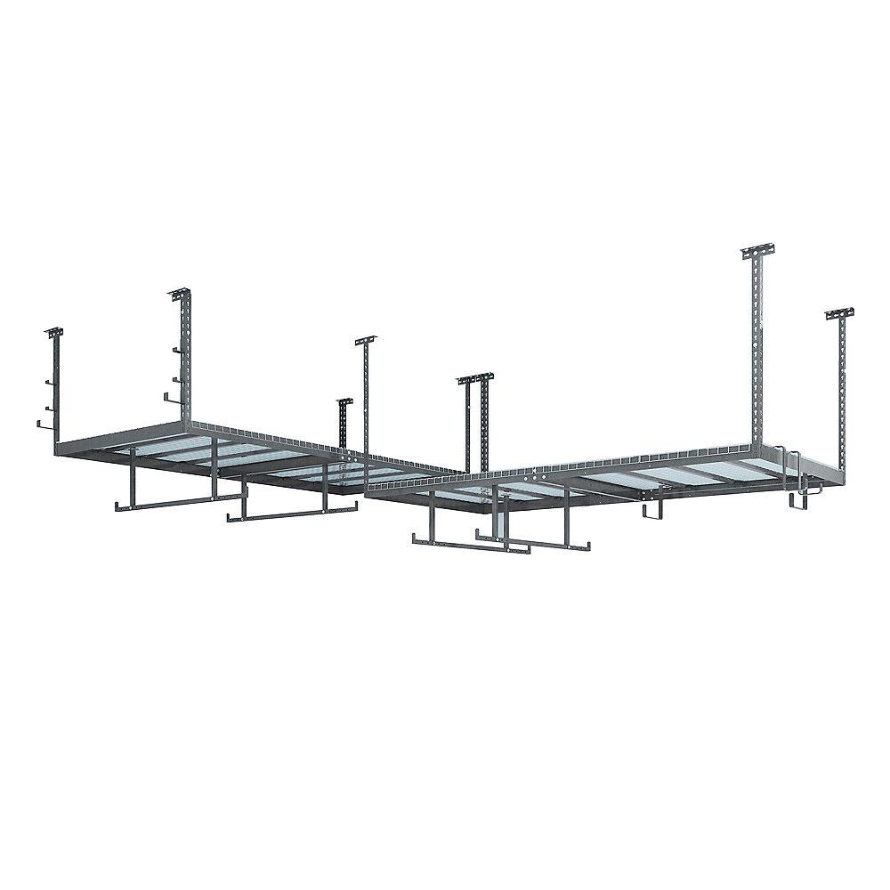 NewAge Products Inc. Ensemble VersaRac gris avec 2 étagères suspendues et ensemble d'accessoires 14 pièces
