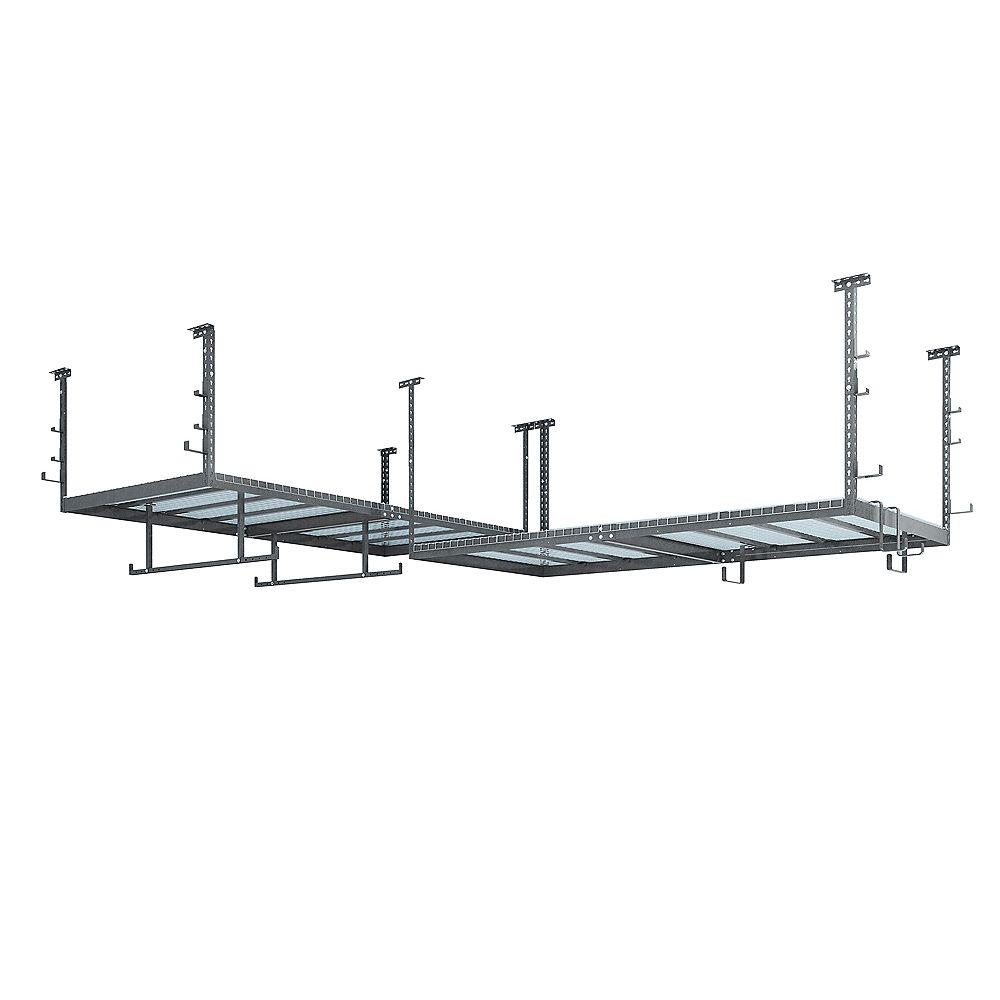 NewAge Products Inc. Ensemble VersaRac gris avec 2 étagères suspendues et ensemble d'accessoires 18 pièces