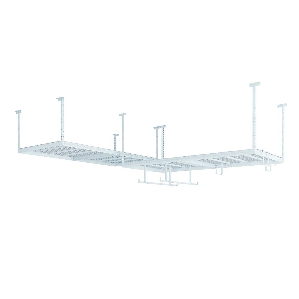 NewAge Products Inc. VersaRac Set in White with 2 Overhead Rack and Accessory Kit (Overhead w/ 12pc Hook Kit,Versarac)