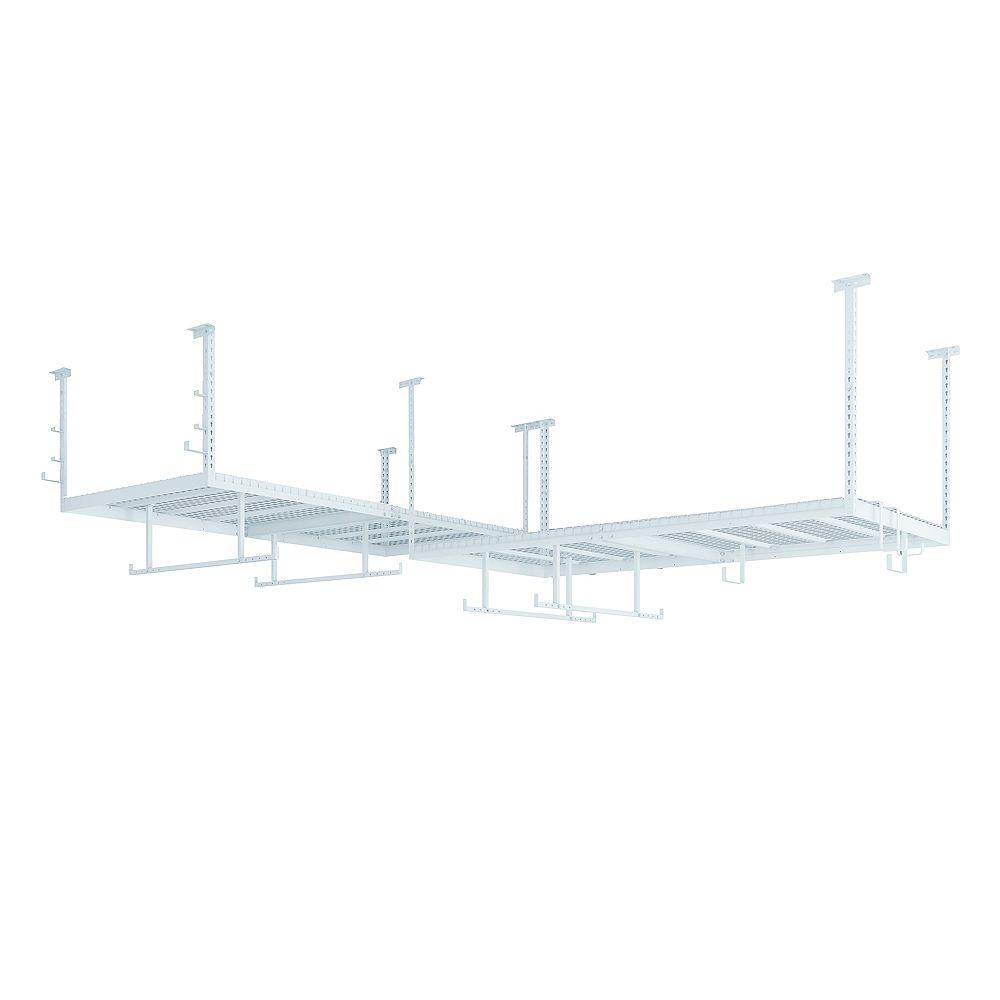 NewAge Products Inc. Ensemble VersaRac blanc avec 2 étagères suspendues et ensemble d'accessoires 14 pièces