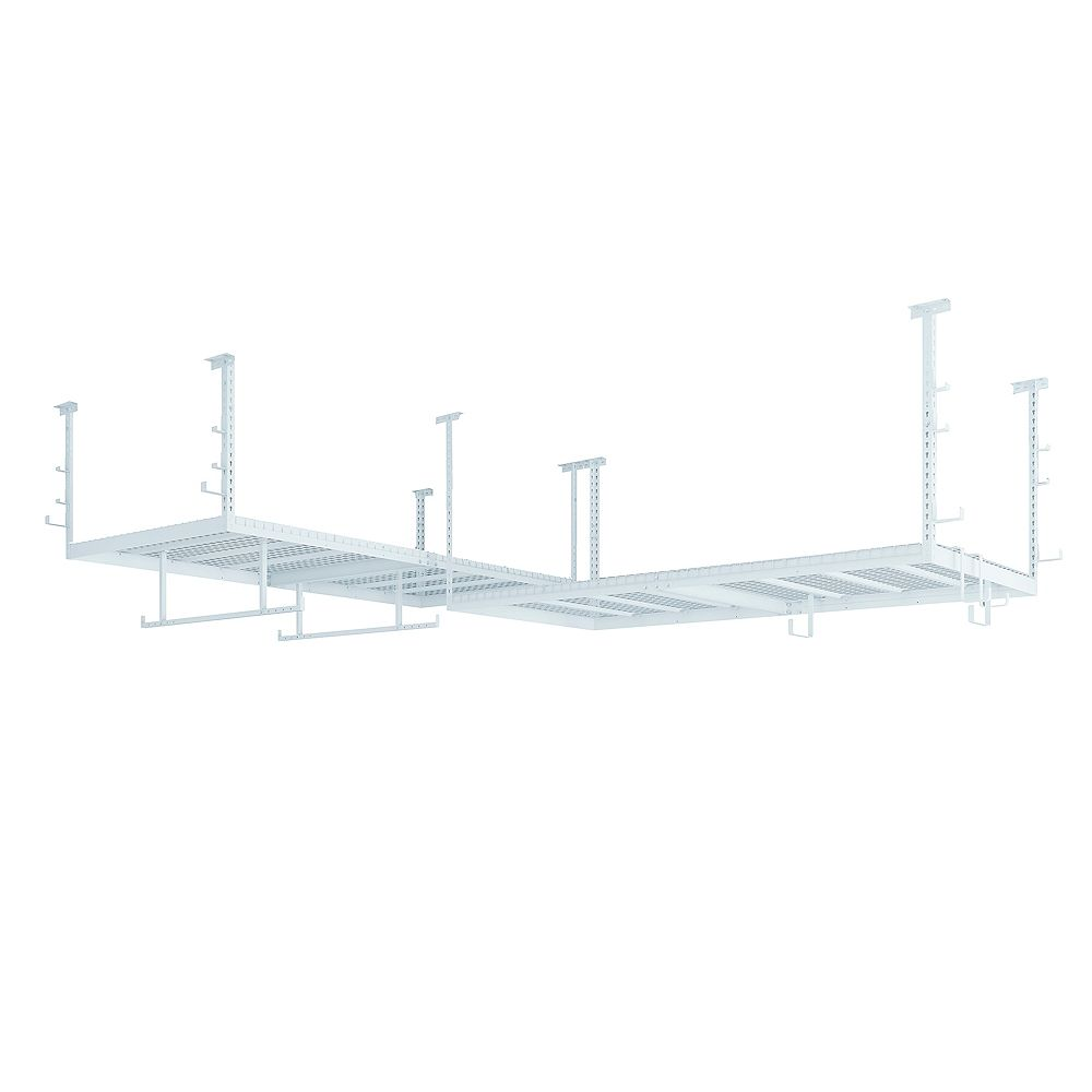 NewAge Products Inc. VersaRac Set in White with 2 Overhead Rack and 18-Piece Accessory Kit