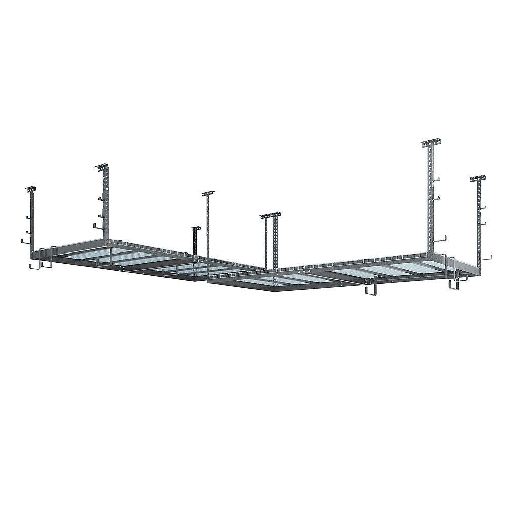 NewAge Products Inc. Ensemble VersaRac gris avec 2 étagères suspendues et ensemble d'accessoires (20 pièces)