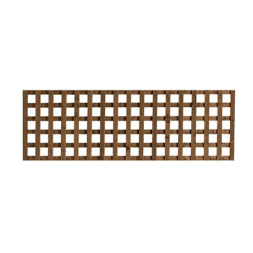 SUNTRELLIS 2 ft. x 6 ft. Jumbo Lattice Brown
