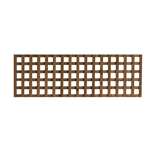SUNTRELLIS Treillis jumbo brun 2 pi x 6 pi