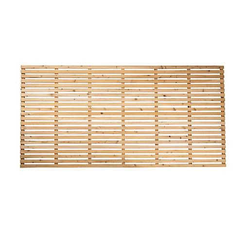 Panneau horizontal contemporain en cèdre de 4 pi x 8 pi