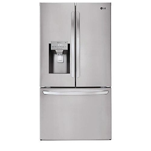 Réfrigérateur de 36 po W 22 pi. cu. à porte française intelligente avec Wi-Fi en acier inoxydable - ENERGY STAR®