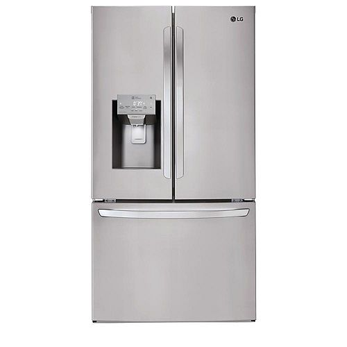 LG Electronics 36-inch W 22 cu. ft. French Door Smart Refrigerator with Wi-Fi in Smudge Resistant Stainless Steel, Counter-Depth - ENERGY STAR®