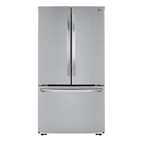 Réfrigérateur à porte française de 36 po W 23 pi3 en acier inoxydable, profondeur du comptoir - ENERGY STAR®