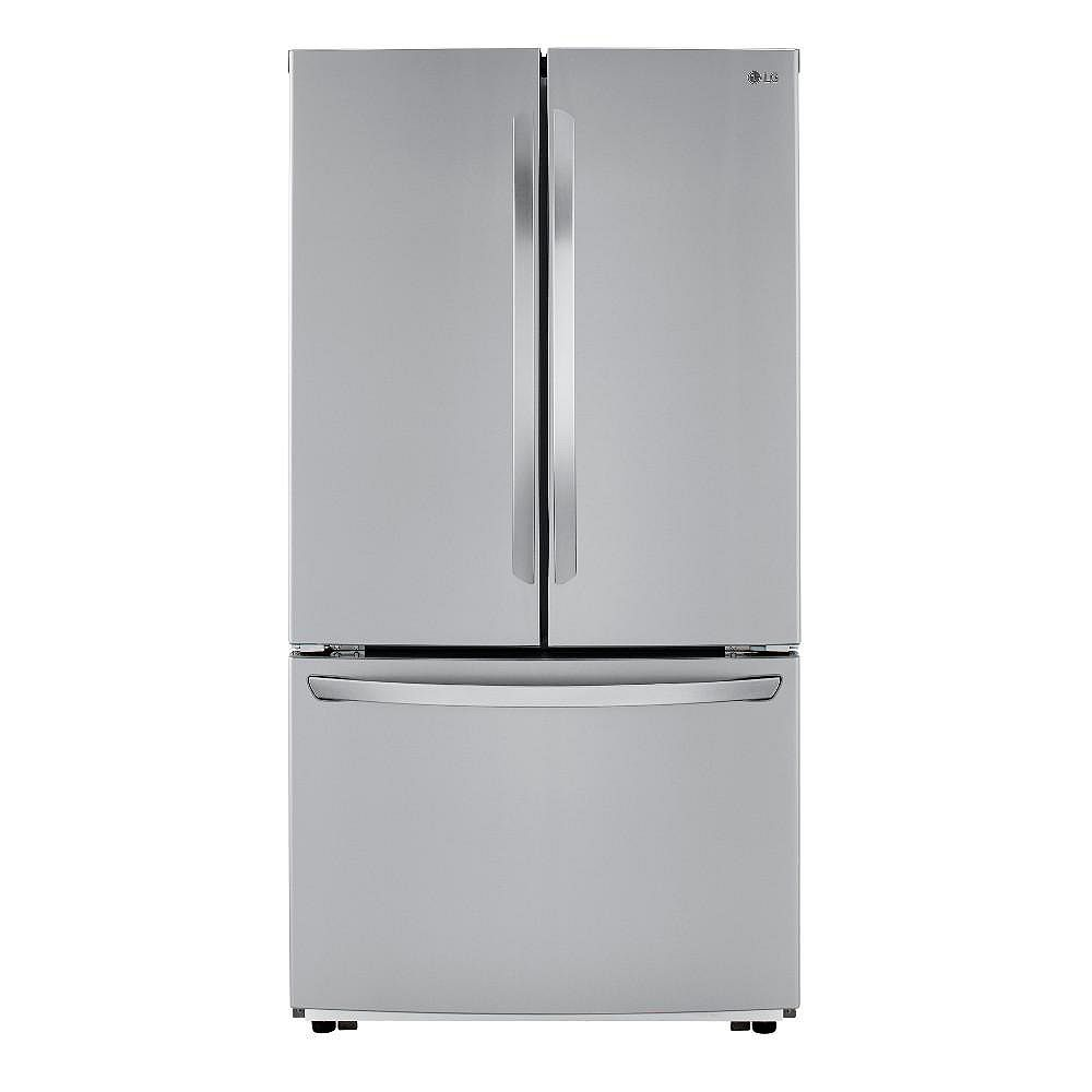 LG Electronics 36-inch W 23 cu. ft. French Door Refrigerator in Stainless Steel, Counter-Depth - ENERGY STAR®
