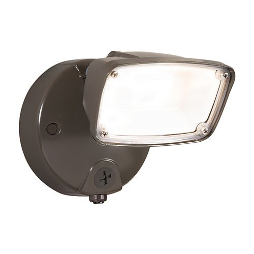 Halo 17-Watt Bronze LED Small-Head Security Flood Light with Switch Control Integrated Photocontrol