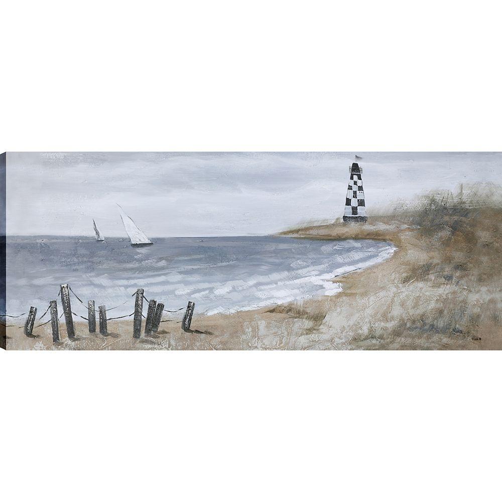 Art Maison Canada Ferme week-end II, Art du paysage, toile impression mur Art Décor 20 X 50 prêtes à accrocher