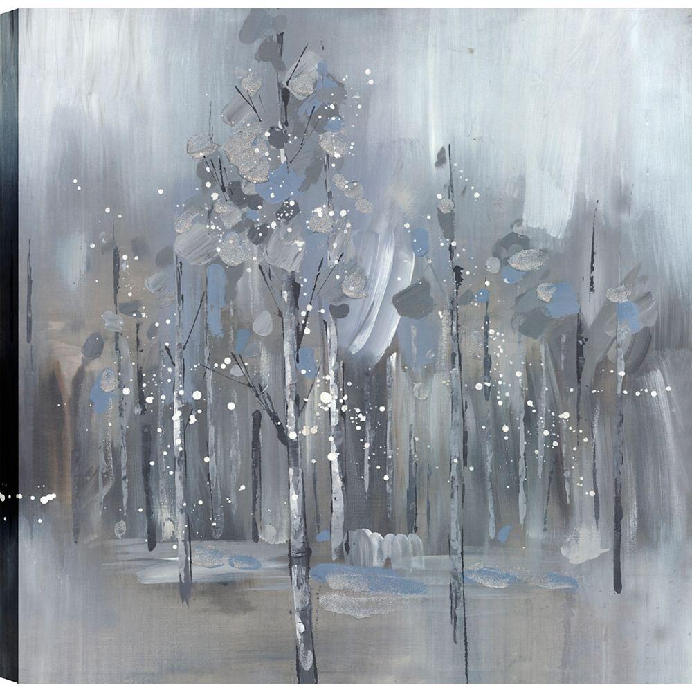 Art Maison Canada Arbres de la jungle, Art du paysage, Décor toile impression murale Art 24 X 24 prêt à accrocher