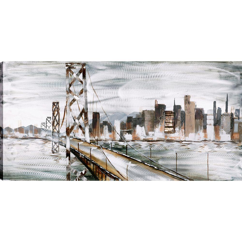 Art Maison Canada San Fransisco, Art du paysage, toile impression Art Décor de mur 30 X 60 prêt à accrocher