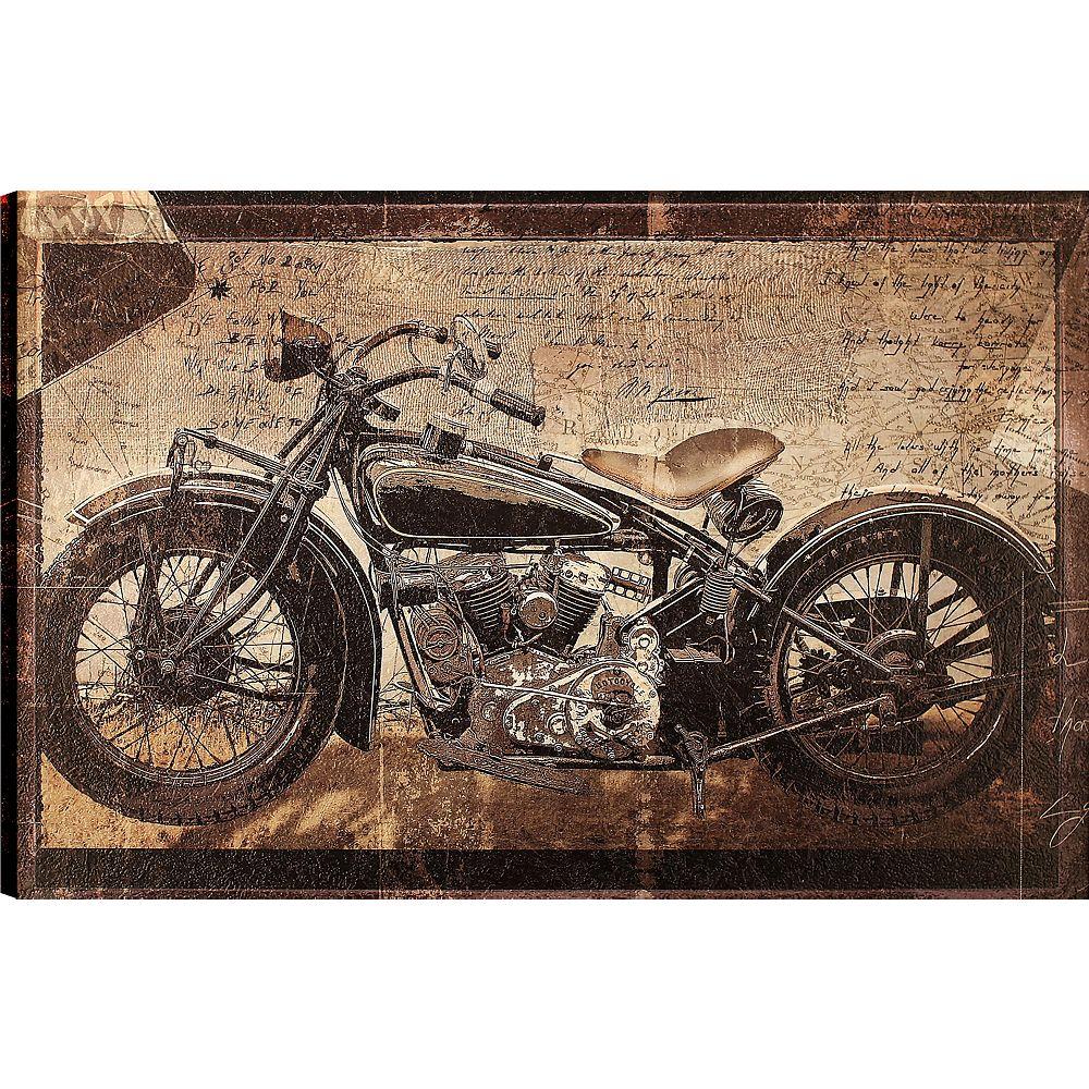Art Maison Canada Vélo antique, Art de transport, toile impression mur Art Décor 24 X 36 prêt à accrocher