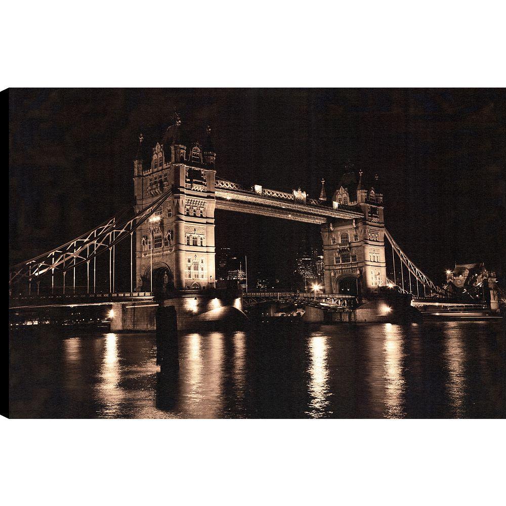 Art Maison Canada London Bridge, Art du paysage, toile impression mur Art Décor 24 X 36 prêt à accrocher