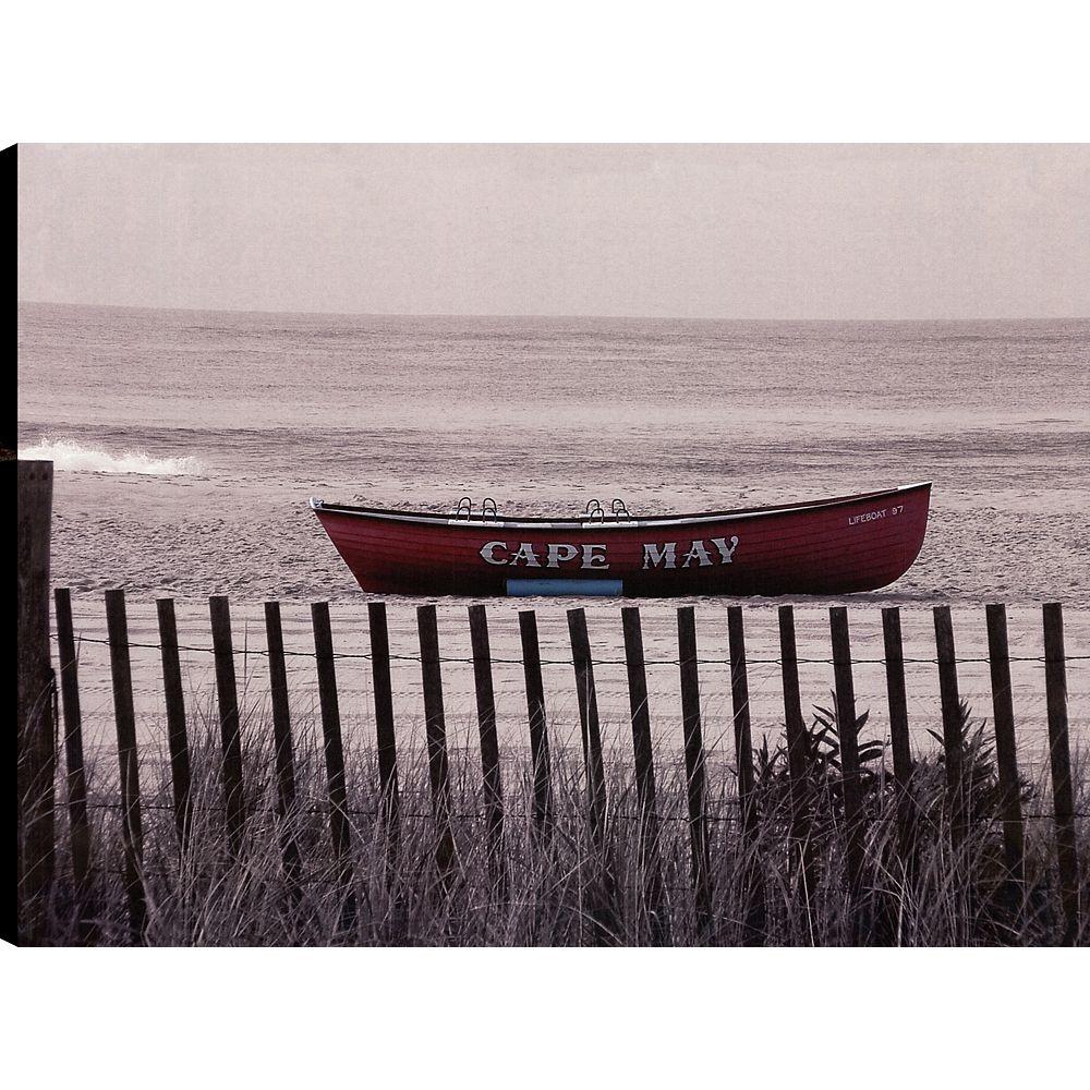 Art Maison Canada Ride the Boat II, Landscape Art, Canvas Print Wall Art Décor 30X40 Ready to hang
