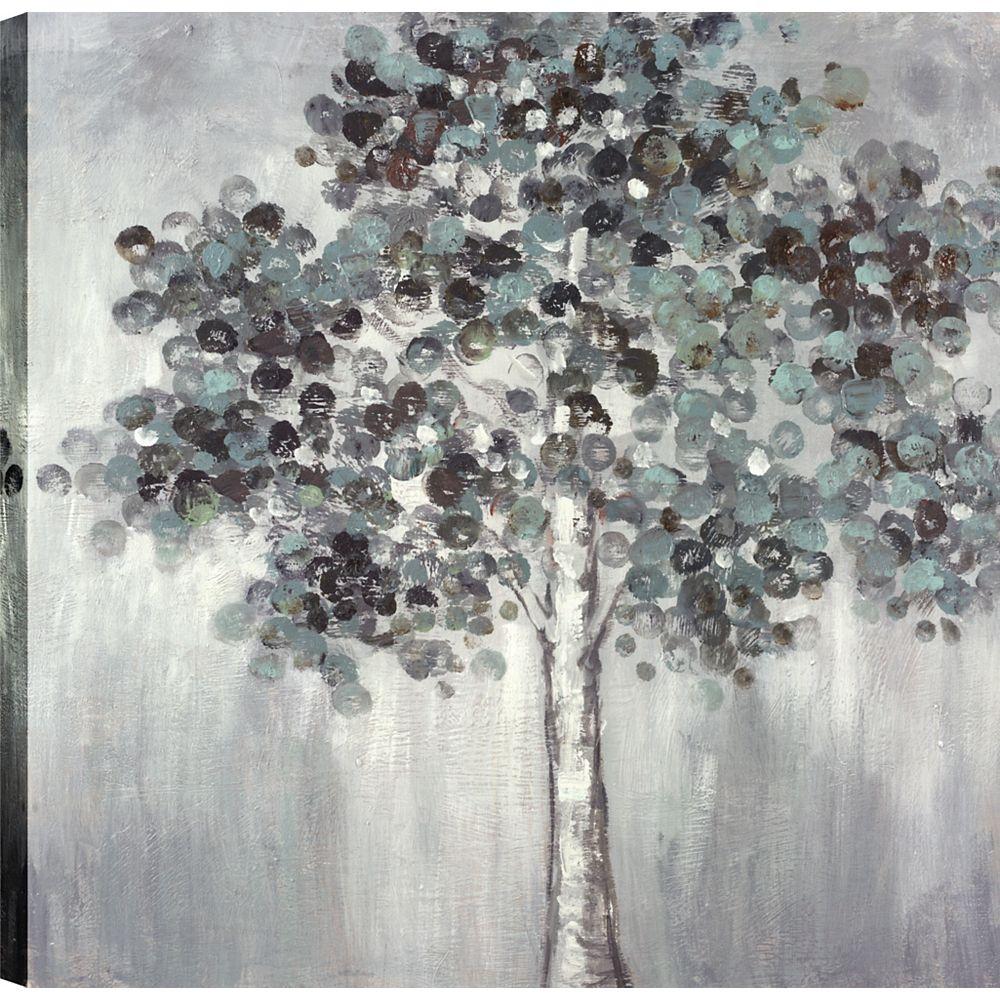 Art Maison Canada Pavot arbres I, Art du paysage, toile impression mur Art Décor 24 X 24 prêt à accrocher