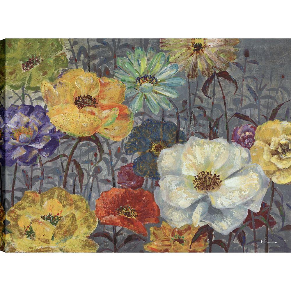 Art Maison Canada Floraux coquelicots II, Art Floral, Décor toile impression murale Art 30 X 40 prêts à accrocher