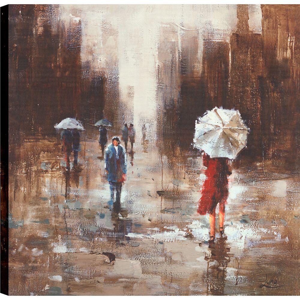 Art Maison Canada Jour de parapluie, Art du paysage, toile impression mur Art Décor 36 X 36 prêt à accrocher
