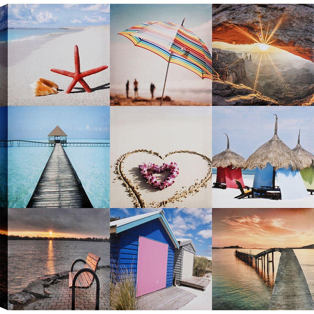Art Maison Canada Love Beach, Art du paysage, toile impression mur Art Décor 24 X 24 prêt à accrocher