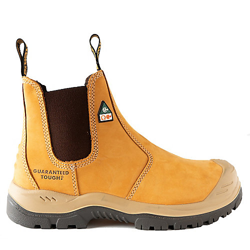 Nitrogen *CSA approved* Men's (size 9.5) 6 inch. Steel Toe/Composite Plate, Side Gore/Slip-On Work Boot