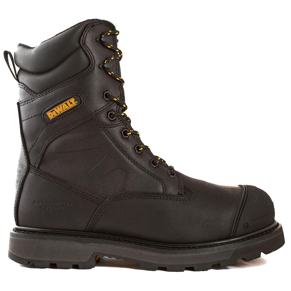 """DEWALT Industrial Footwear Impact *approuvé CSA* Homme (taille:10.5) 8"""" Embout D'aluminium/Plaque Composite/Thinsulate botte"""