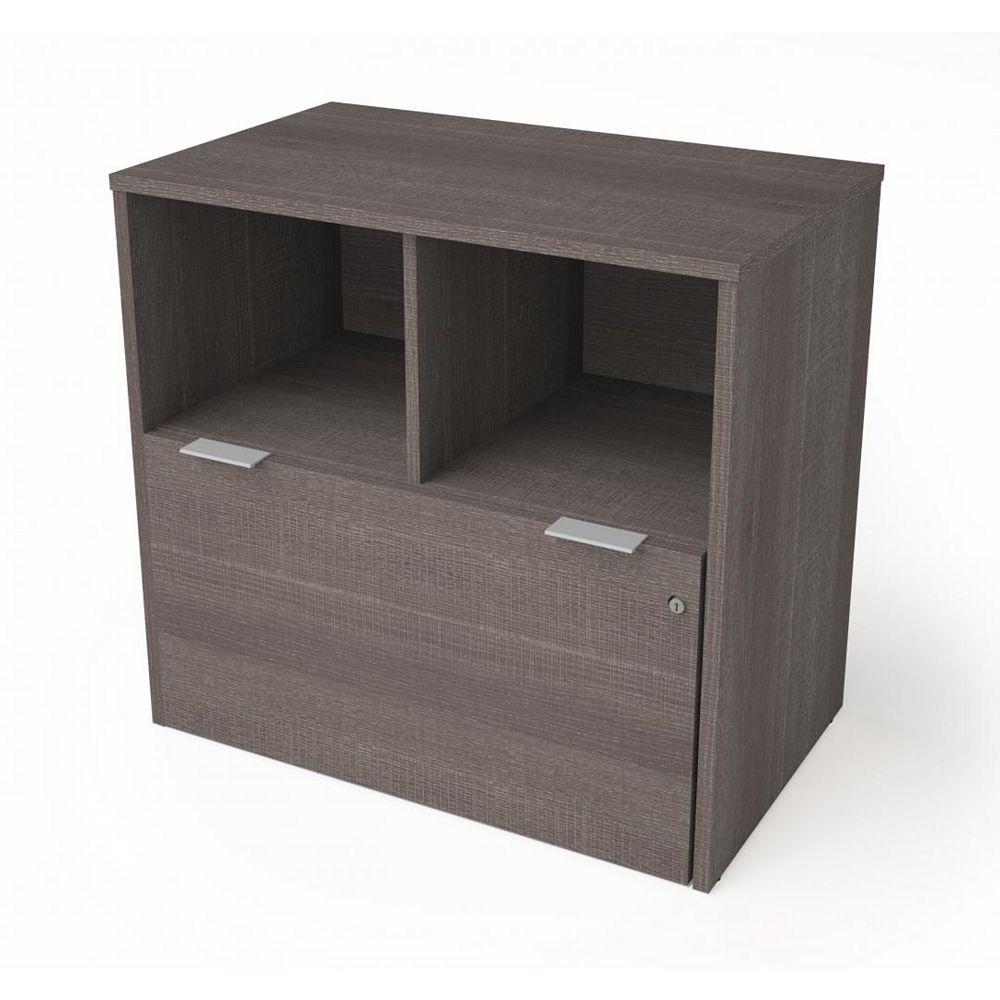 Bestar i3 Plus Classeur latéral à un tiroir  - Gris Écorce