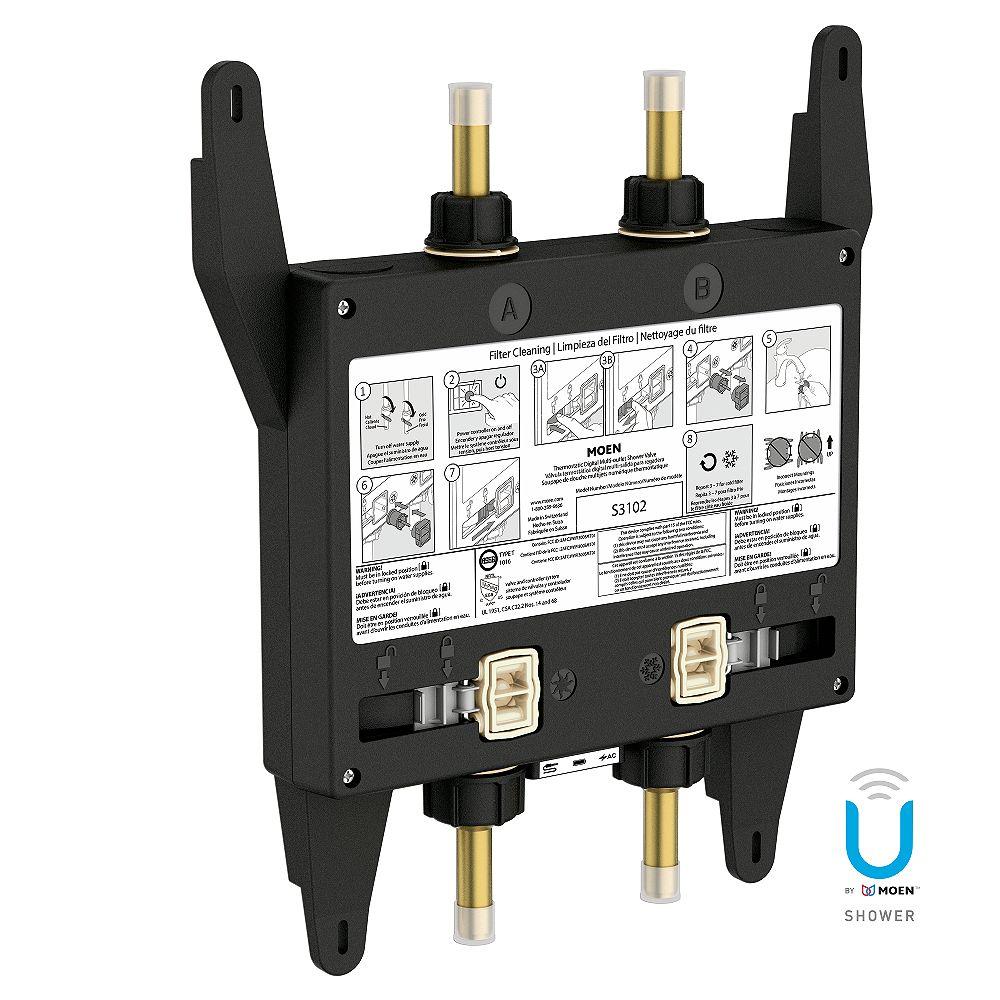 Moen U by Shower 2-Outlet Digital Thermostatic Shower Valve S3102