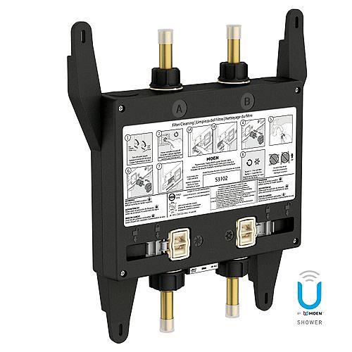 U by Shower Vanne de douche thermostatique numérique à 2 sorties