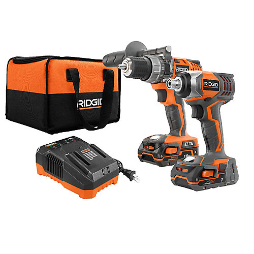 X4 18V Lithium-Ion Cordless Hammer Drill and Impact Driver Kit (2-Tool) with (2) 1.5Ah Batteries