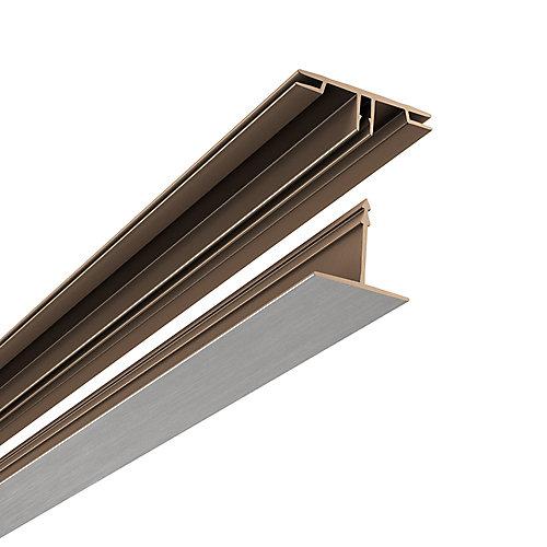 Ensemble Plafond Suspendu Montage En Surface, 100 pds carrés, Brushed Nickel