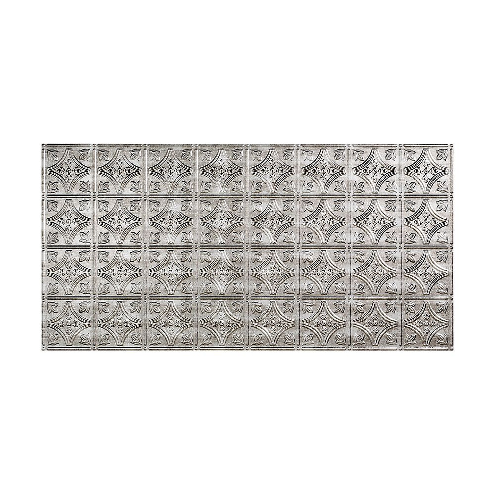 Fasade Tuile De Plafond À Coller 2x4, Traditional 1, Crosshatch Silver
