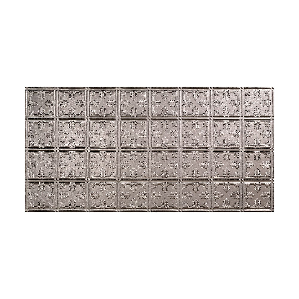 Fasade Traditional 10, 2x4 Glue Up Ceiling Tile, Galvanized Steel Finish