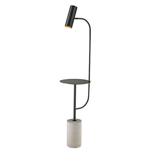 Lampe de plancher avec un plateau en métal