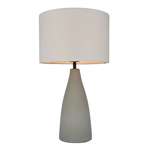 Lampe de table avec base en ciment