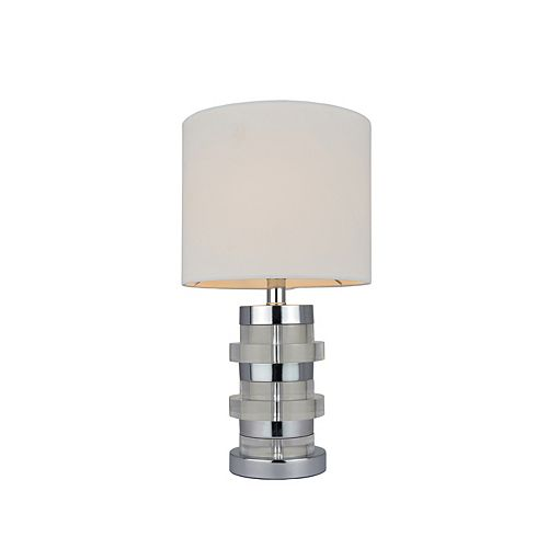 18'' Lampe de table - Chrome