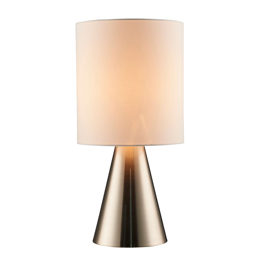 L2 Lighting 18'' Lampe de table en métal - acier brossé