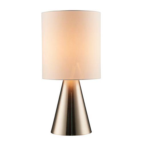 18'' Lampe de table en métal - acier brossé