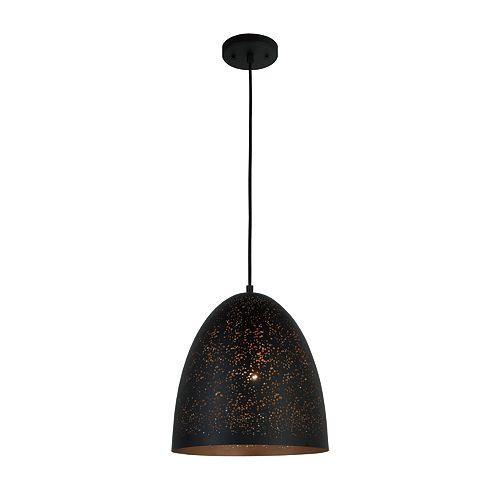 9.5-inch Metal Pendant Light Fixture in Industrial Bronze