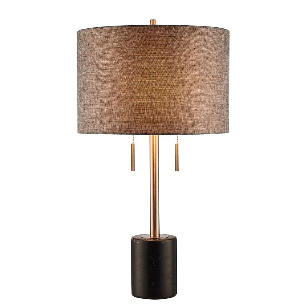 L2 Lighting 62'' Lampe de plancher - marbre noir