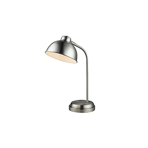 Lampe de bureau en métal avec abat-jour arrondi
