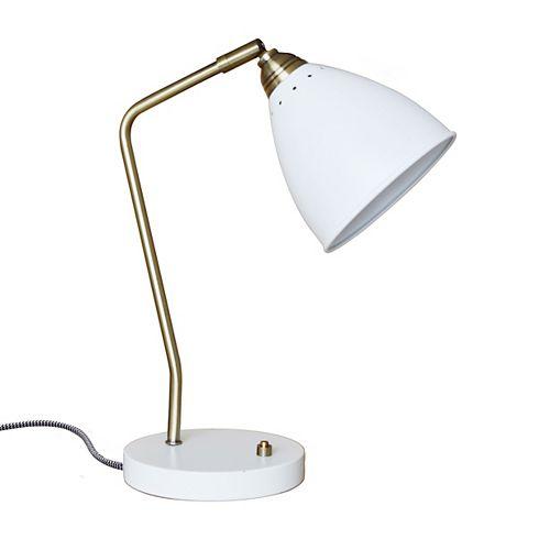 Superior Metal task lamp - white