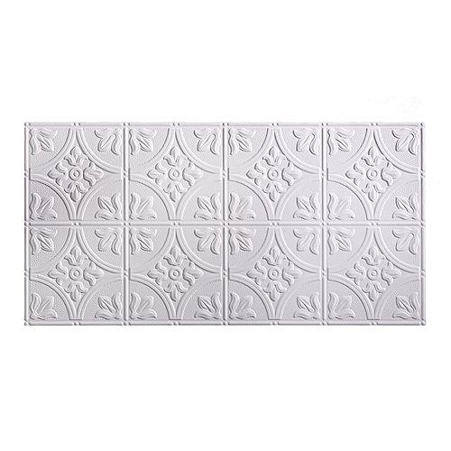 Tuile De Plafond À Coller 2x4, Traditional 2, Blanc Mat à Peindre