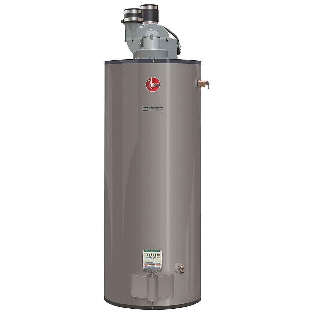 Rheem 50 Gallon Commercial Propane Power Direct Vent Water Heater